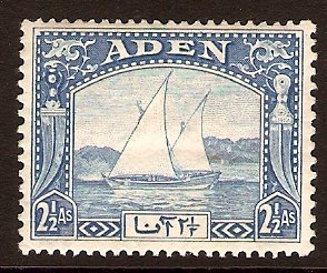 Aden 1937 2½a Bright blue. SG5.