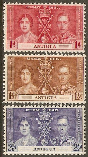 Antigua 1937 Coronation Set. SG95-SG97.