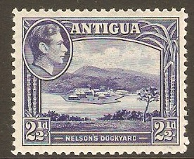 Antigua 1938 2½d Deep ultramarine. SG102.
