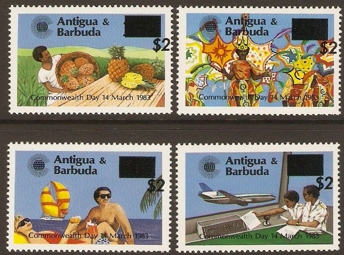 Antigua 1984 Commonwealth Day Stamps Overprint Set. SG852-SG855.