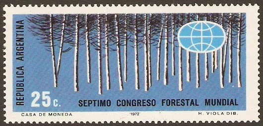 Argentina 1972 Forestry Congress Stamp. SG1403.
