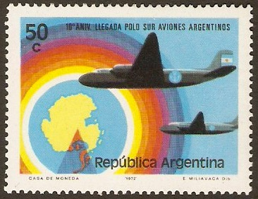 Argentina 1973 South Pole Flight Anniversary. SG1414.