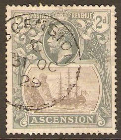 Ascension 1924 2d Grey. SG13.