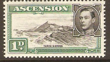 Ascension 1938 1d Black and green. SG39d.