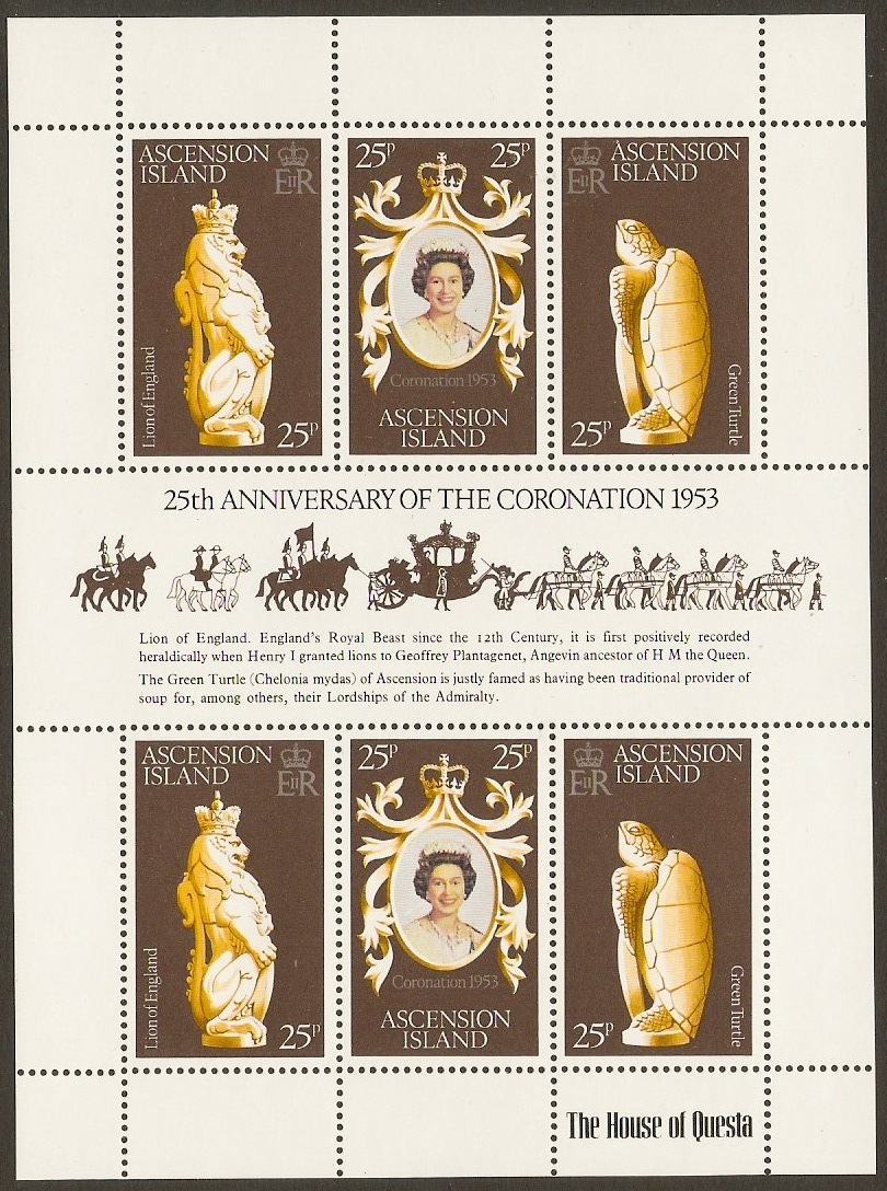 Ascension 1978 Coronation Anniversary Stamps. SG233-SG235.