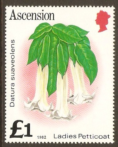 Ascension 1981 £1 Flowers Series. SG295B.