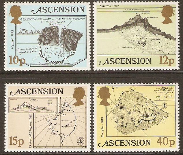 Ascension 1981 Early Maps Series. SG297-SG300.