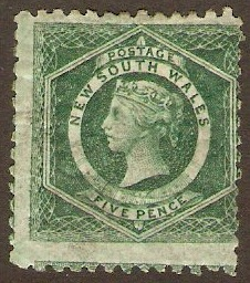 New South Wales 1871 5d Bluish green. SG215.