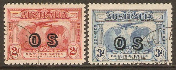 Australia 1931 Official stamps set. SGO123-SGO124.