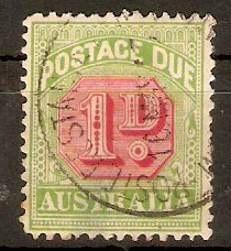 Australia 1938 1d Carmine and green - Postage Due. SGD113.