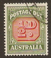 Australia 1946 ½d Carmine and green - Postage Due. SGD119.