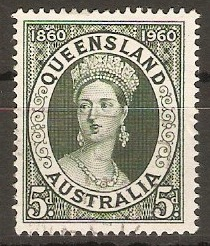 Australia 1960 5d Queensland Stamp Centenary. SG337.