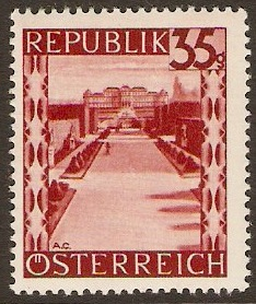 Austria 1945 35g Lake - Views Series. SG940.