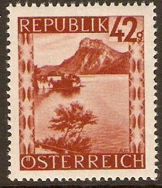Austria 1945 42g Brown-red - Views Series. SG943.