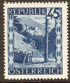 Austria 1945 45g Bright blue - Views Series. SG944.