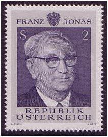 Austria Stamps: 1969 Franz Jonas Stamp SG1567 [AUT-092] : Kayatana ...