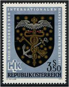 Austria 1971 Chamber of Commerce Stamp. SG1608.