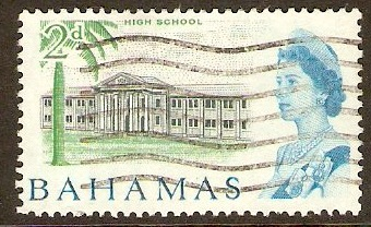 Bahamas 1965 2d Slate, green and blue. SG250.