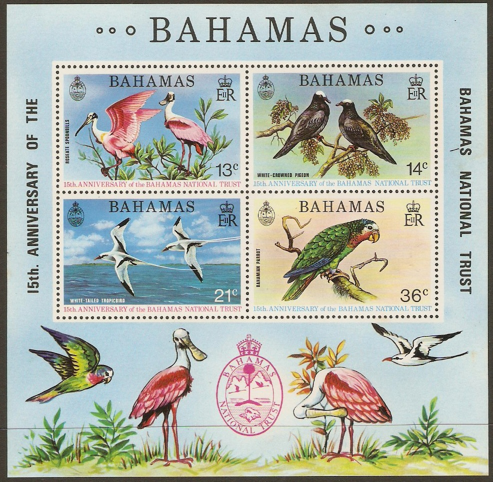 Bahamas 1974 National Trust Sheet. SGMS433.
