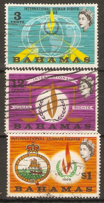 Bahamas 1968 Human Rights Set. SG312-SG314.