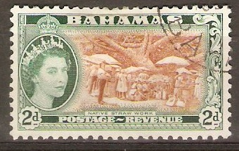 Bahamas 1954 2d Yellow-brown and myrtle-green. SG204.