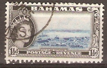 Bahamas 1954 1½d Blue and black. SG203.