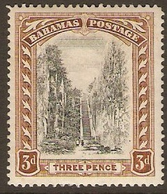Bahamas 1911 3d Black and brown. SG77.