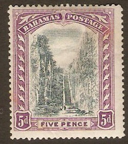 Bahamas 1911 5d Black and mauve. SG78.