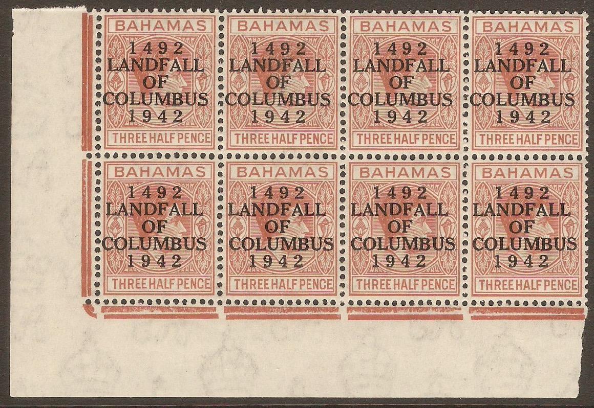 Bahamas 1942 1½d Red-brown. SG164.