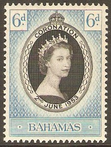 Bahamas 1953 Coronation Stamp. SG200.