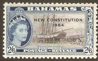 Bahamas 1964 2s.6d New Constitution Series. SG240.