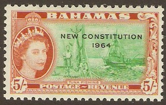 Bahamas 1964 5s New Constitution Series. SG241.