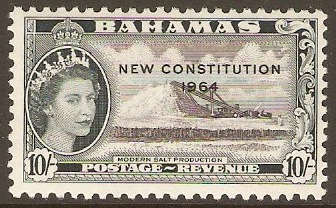 Bahamas 1964 10s New Constitution Series. SG242.