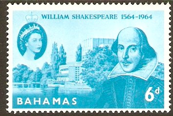 Bahamas 1964 6d Shakespeare Commemoration Stamp. SG244.