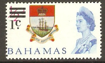 Bahamas 1966 1c on ½d Decimal Currency overprint series. SG273.