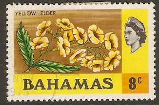 Bahamas 1971 8c Yellow Elder. SG366.