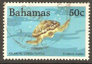 Bahamas 1984 50c Atlantic Green Turtle. SG693.