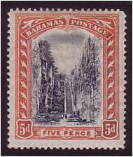 Bahamas 1901 5d. Black & Orange. SG59.