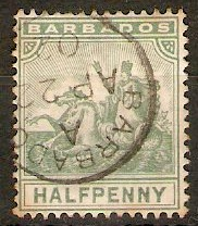 Barbados 1892 ½d Dull green. SG106.