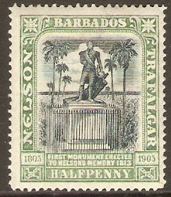 Barbados 1906 ½d Black and pale green. SG146.