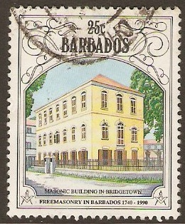 Barbados 1991 25c Freemasonry Series. SG956.