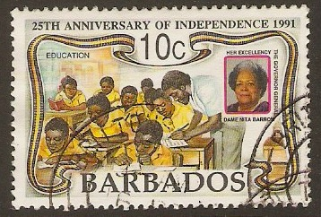 Barbados 1991 10c Independence Anniversary Series. SG965.
