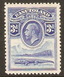 Basutoland 1933 3d Bright blue. SG4.