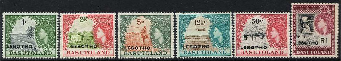Lesotho 1966 Definitive Set B. SG111B-SG120B.