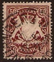 Bavaria 1876 50pf Red. SG86.