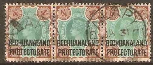Bechuanaland 1897 4d Green and purple-brown. SG64.