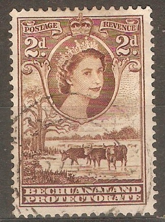 Bechuanaland 1955 2d. Red-Brown. SG145.