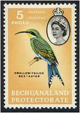 Bechuanaland 1961 5c. Bird Definitive Stamp. SG172.