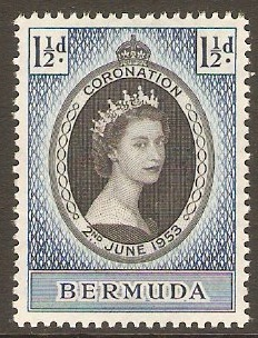 Bermuda 1953 Coronation Stamp. SG134.
