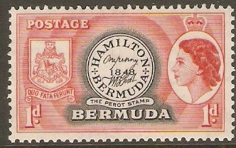 Bermuda 1953 1d Black and red. SG136.